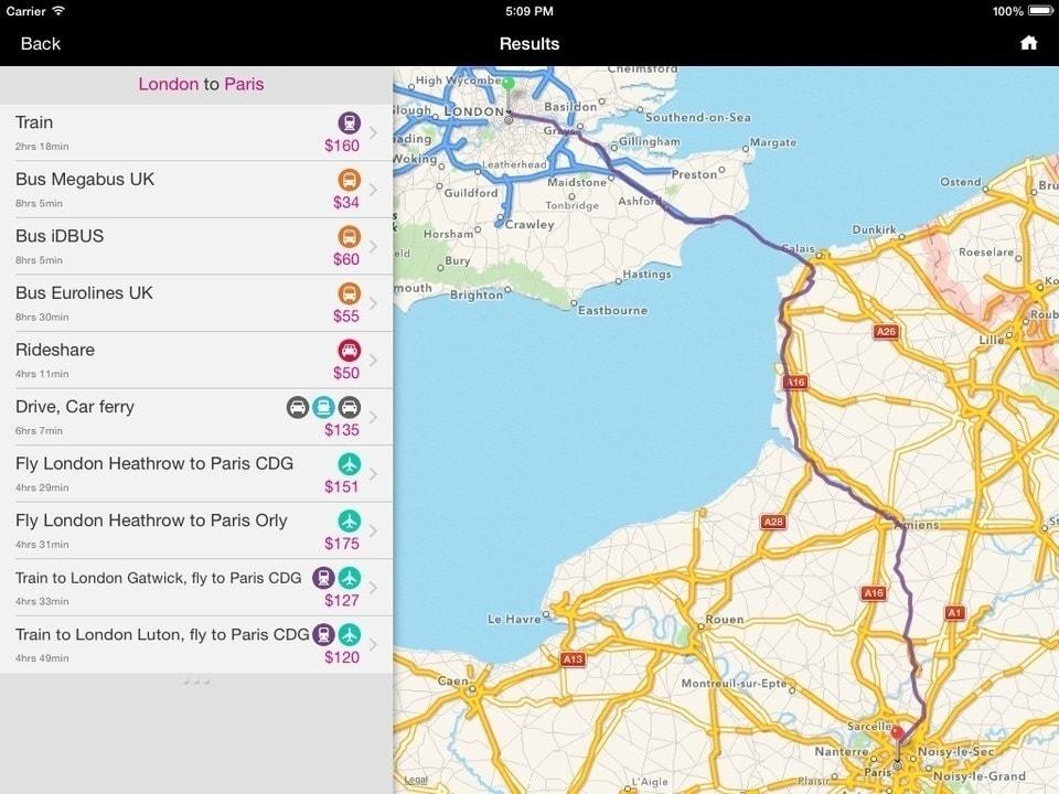 rome2rio aplikacje podróżnicze
