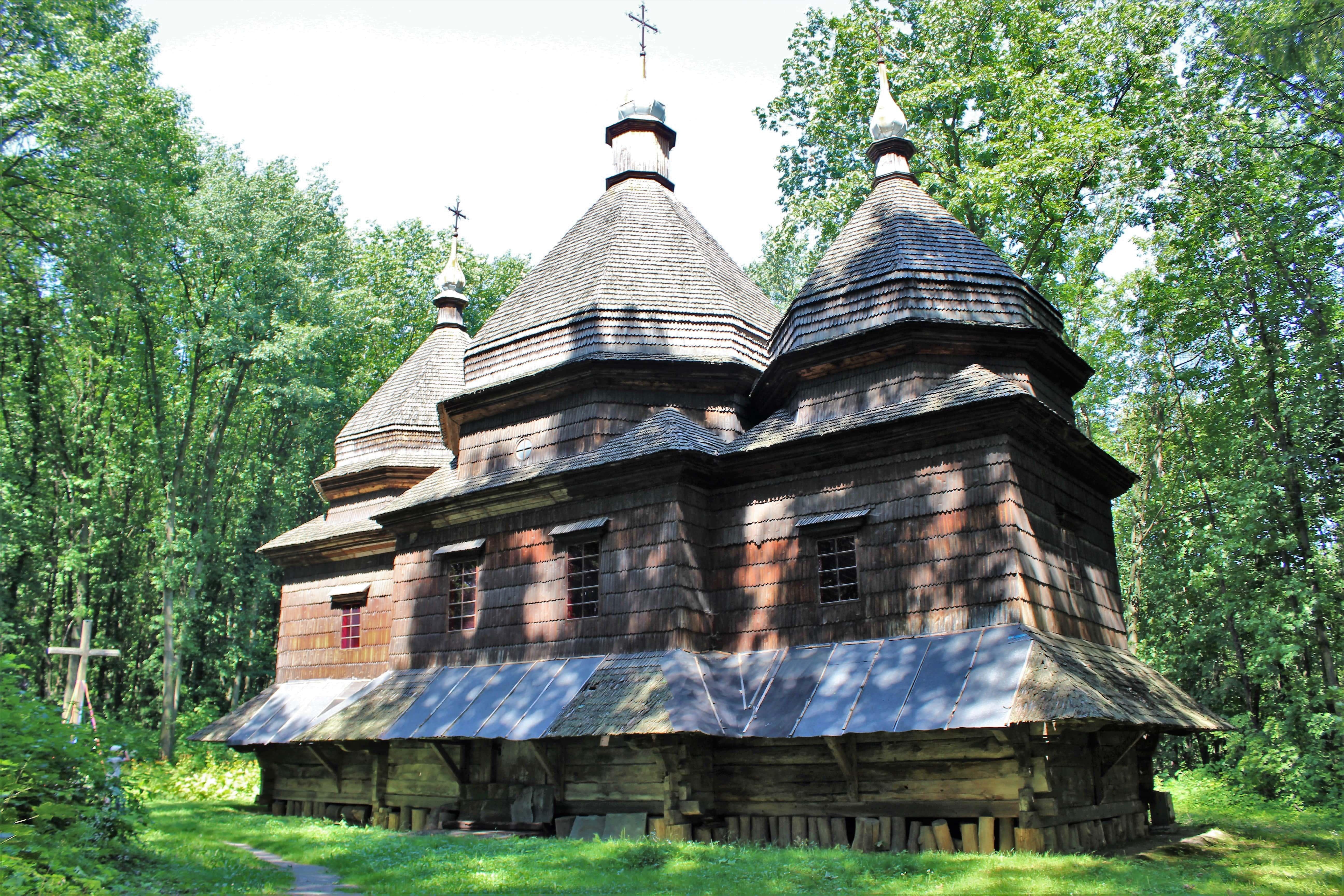 Bojkowszczyzna, cerkiew z 1863 roku. Tysowec, wieś w obwodzie lwowskim