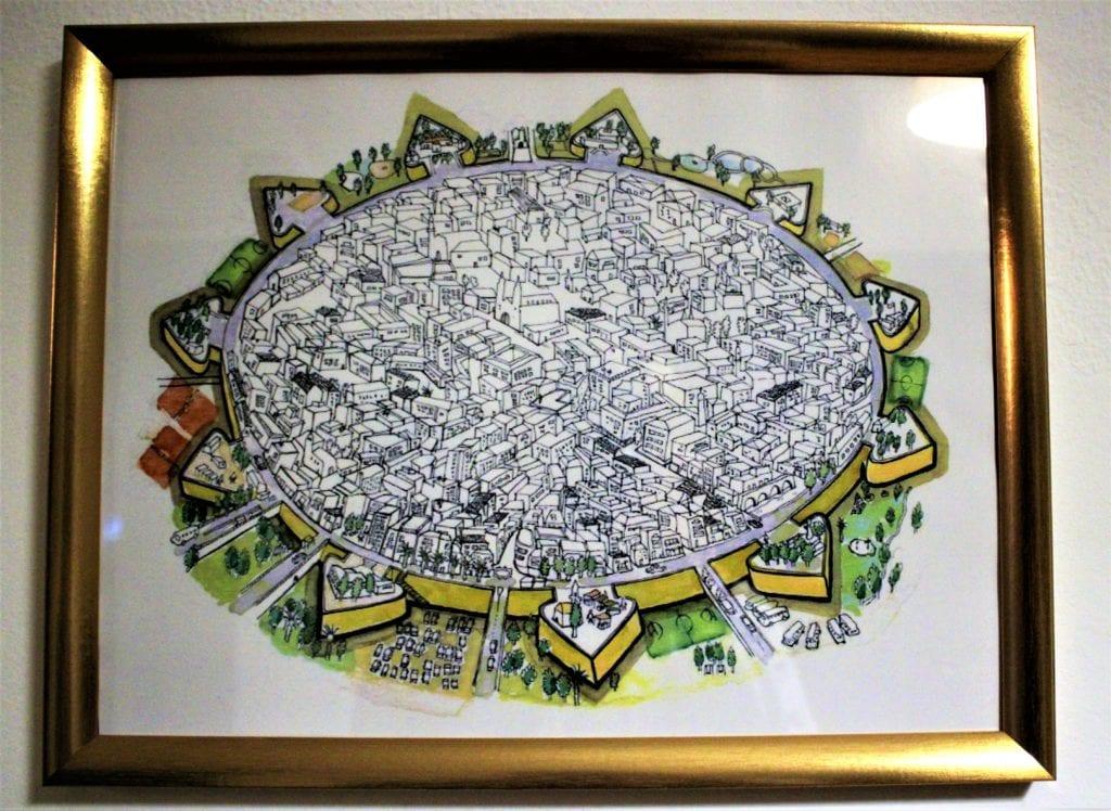 Nikozja plan miasta