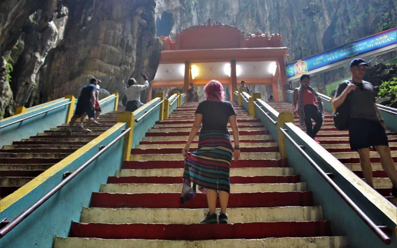 Jaskinie Batu wnętrze